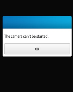 Camera can't be started